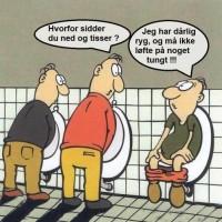 På toilettet