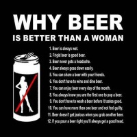 Hvorfor er øl bedre end kvinder