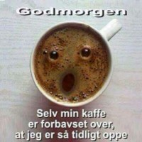 God morgen - forbavset